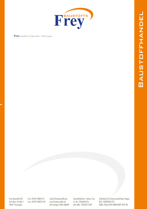 Briefpapier Frey Baustoffe KG