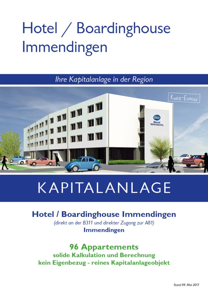 Deckblatt Kurz-Exposé Hotel / Boardinghouse Immendingen