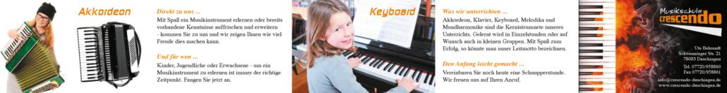Folder Musikschule Crescendo