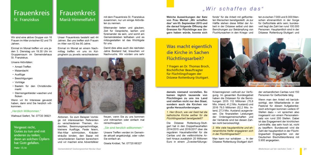 Gemeindebrief Auszug S20-21