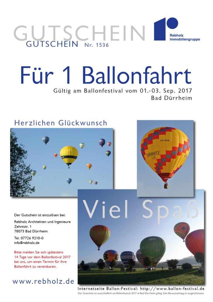 Gutschein Ballonfahrt