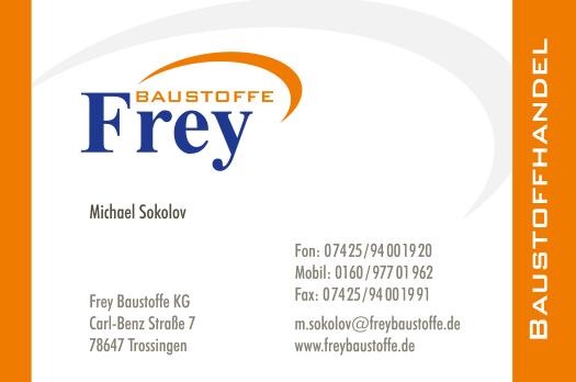Visitenkarte Frey Baustoffe