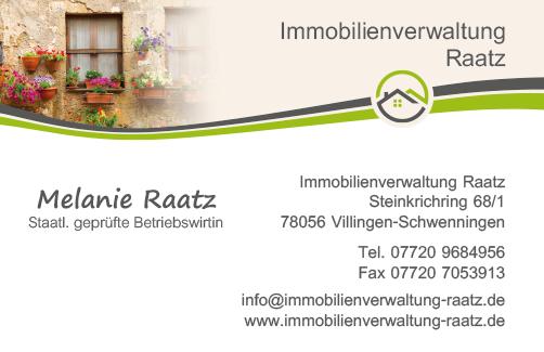 Visitenkarte Immobilienverwaltung Raatz