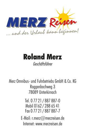 Visitenkarten Merz-Reisen