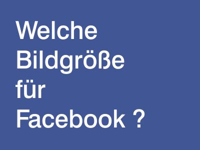 facebook optimale bildgröße